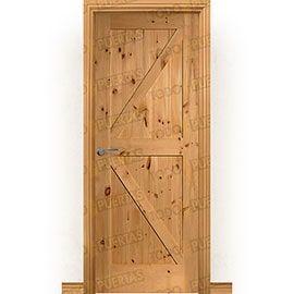 Puertas Rústicas de Interior:  Puerta Block Maciza Mod. GR001 Tenida