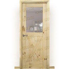 Puertas Rústicas de Interior:  Puerta Block Maciza Mod. GR002 V1Z