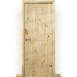 Puertas Rústicas de Interior:  Puerta Block Maciza Mod. GR002
