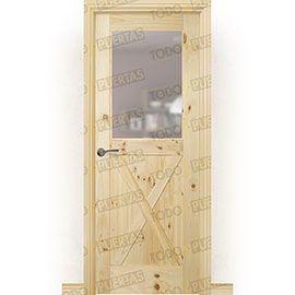 Puertas Rústicas de Interior:  Puerta Block Maciza Mod. GR003 V1Z