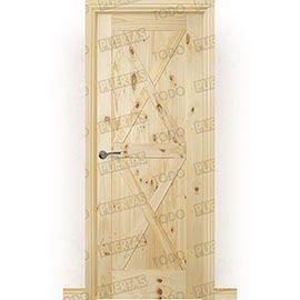 Puertas Rústicas de Interior:  Puerta Block Maciza Mod. GR003