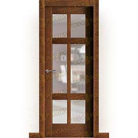 Puertas Rústicas de Interior:  Puerta Block Maciza Mod. Hernández V