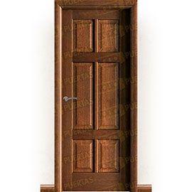 Puertas Rústicas de Interior:  Puerta Block Maciza Mod. Hernández