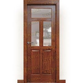 Puertas Rústicas de Interior:  Puerta Block Maciza Mod. Jambrina V
