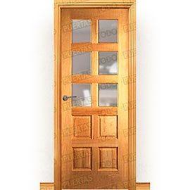 Puertas Rústicas de Interior:  Puerta Block Maciza Mod. Woolf ZV6