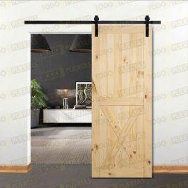 Puertas Baratas y Accesorios para puertas:  Puerta de pino macizo tipo Granero Mod. Unamuno