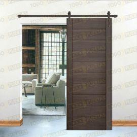 Puertas Baratas y Accesorios para puertas:  Puerta de pino macizo tipo Granero Mod. Cervantes Wengue