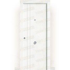 Puertas de Entrada y de Exterior de Madera:  Puerta de Entrada Blindada Blanca Mod. Álava