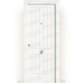 Puertas Blindadas:  Puerta de Entrada Blindada Blanca Mod. Casablanca