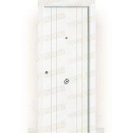 Puertas de Entrada y de Exterior de Madera:  Puerta de Entrada Blindada Blanca Mod. Castellón