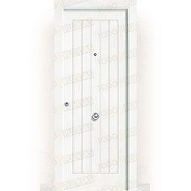 Puertas de Entrada y de Exterior de Madera:  Puerta de Entrada Blindada Blanca Mod. Edimburgo