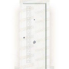 Puertas de Entrada y de Exterior de Madera:  Puerta de Entrada Blindada Blanca Mod. Grecia