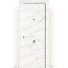 Puertas de Entrada y de Exterior de Madera:  Puerta de Entrada Blindada Blanca Mod. Liberia