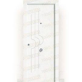 Puertas Blindadas:  Puerta de Entrada Blindada Blanca Mod. Lubango