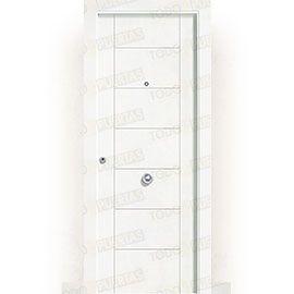 Puertas de Entrada y de Exterior de Madera:  Puerta de Entrada Blindada Blanca Mod. Montecarlo