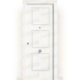 Puertas de Entrada y de Exterior de Madera:  Puerta de Entrada Blindada Blanca Mod. Nauru