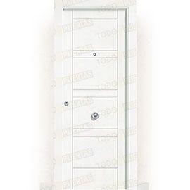Puertas Blindadas:  Puerta de Entrada Blindada Blanca Mod. Oisa