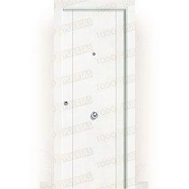 Puertas de Entrada y de Exterior de Madera:  Puerta de Entrada Blindada Blanca Mod. Pekín