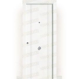 Puertas Blindadas:  Puerta de Entrada Blindada Blanca Mod. Portonovo