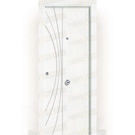 Puertas de Entrada y de Exterior de Madera:  Puerta de Entrada Blindada Blanca Mod. Raipur
