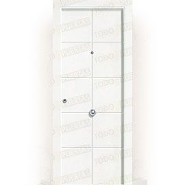 Puertas de Entrada y de Exterior de Madera:  Puerta de Entrada Blindada Blanca Mod. Seúl