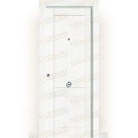 Puertas de Entrada y de Exterior de Madera:  Puerta de Entrada Blindada Blanca Mod. Songo