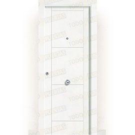 Puertas de Entrada y de Exterior de Madera:  Puerta de Entrada Blindada Blanca Mod. Tailandia