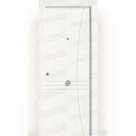 Puertas Blindadas:  Puerta de Entrada Blindada Blanca Mod. Torra
