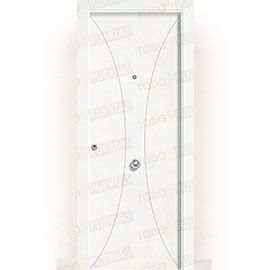 Puertas de Entrada y de Exterior de Madera:  Puerta de Entrada Blindada Blanca Mod. Yaundé