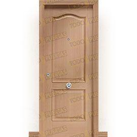 Puertas de Entrada y de Exterior de Madera:  Puerta de Entrada Blindada Clásica Chichen-Itza