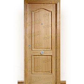 Puertas de Entrada y de Exterior de Madera:  Puerta de Entrada Blindada Clásica Chichen-Itza Roble
