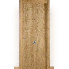 Puertas Blindadas:  Puerta de Entrada Blindada Moderna Islandia Roble