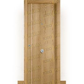 Puertas Blindadas:  Puerta de Entrada Blindada Moderna Suecia-G1B Roble