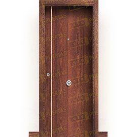 Puertas Blindadas:  Puerta de Entrada Blindada Moderna Suecia-G1B Sapelly Rameado