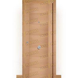 Puertas de Entrada y de Exterior de Madera:  Puerta de Entrada Blindada Moderna Támesis Haya