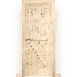 Puertas Rústicas de Interior:  Puerta Block Maciza Mod. GR001
