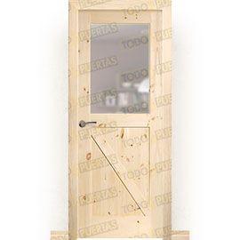 Puertas Rústicas de Interior:  Puerta Block Maciza Mod. GR001 V1Z