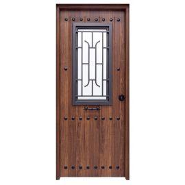 Puertas de Exterior y de Calle:  Puerta de Acero Galvanizado Mod. 1150 CL CR REJA SAGA100 Cristal