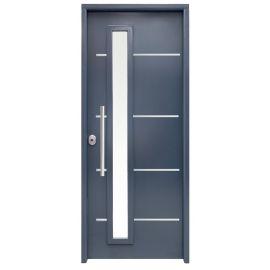 Puertas de Exterior y de Calle:  Puerta de Acero Galvanizado Mod. CINTIA FM-CRL SAGA100 Cristal