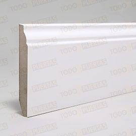 Puertas Baratas y Accesorios para puertas:  Paquete de Rodapié Blanco Mod. 102 (10 tiras)