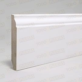 Rodapiés Blancos y de Madera:  Paquete de Rodapié Blanco Mod. 102 (10 tiras)