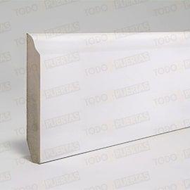 Rodapiés Blancos y de Madera:  Paquete de Rodapié Blanco Mod. 103 (10 tiras)