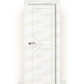 Puertas de Interior de Madera:  Puerta Block Maciza Lacada Blanca Mod. Sima