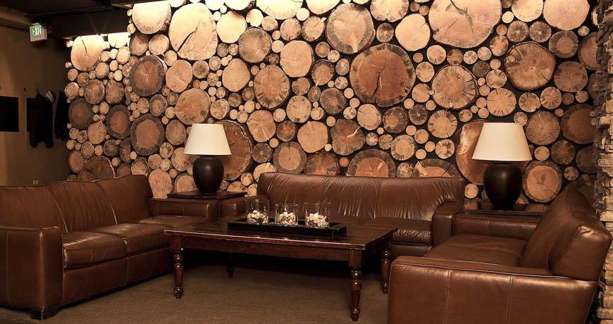 Ideas geniales y originales de decoración con troncos de árboles