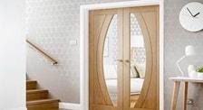 Puertas de interior Lacadas colorlac con vidriera