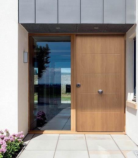 Puertas de entrada para una vivienda unifamiliar