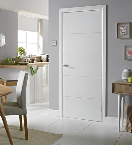 Características de las puertas lacadas blancas