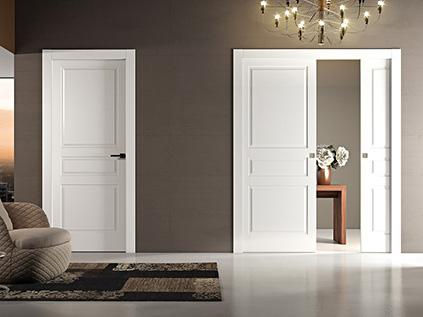 Puertas lacadas blancas abatibles y correderas