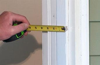 Cómo medir galce de puertas de interior