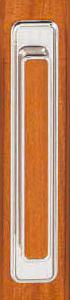 Tirador cromo para puertas plegables